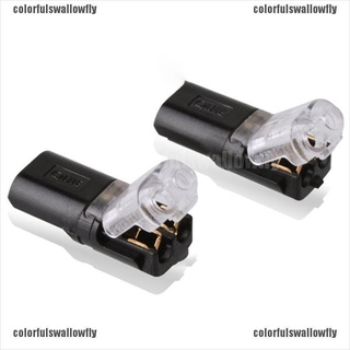 Colorfulswallowfly 2pcs 2pin Electrical Cable Terminals Spring Quick Wire pluggable Connection CSF