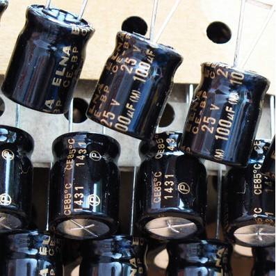 Tụ điện màu đen 100uF 25V ELNA RBD-25V101MH3