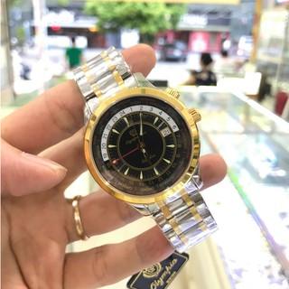 Đồng hồ Nam OLYMPIA STAR 98027G-229 đen full hộp chính hãng, kính sapphire chống xướ thumbnail