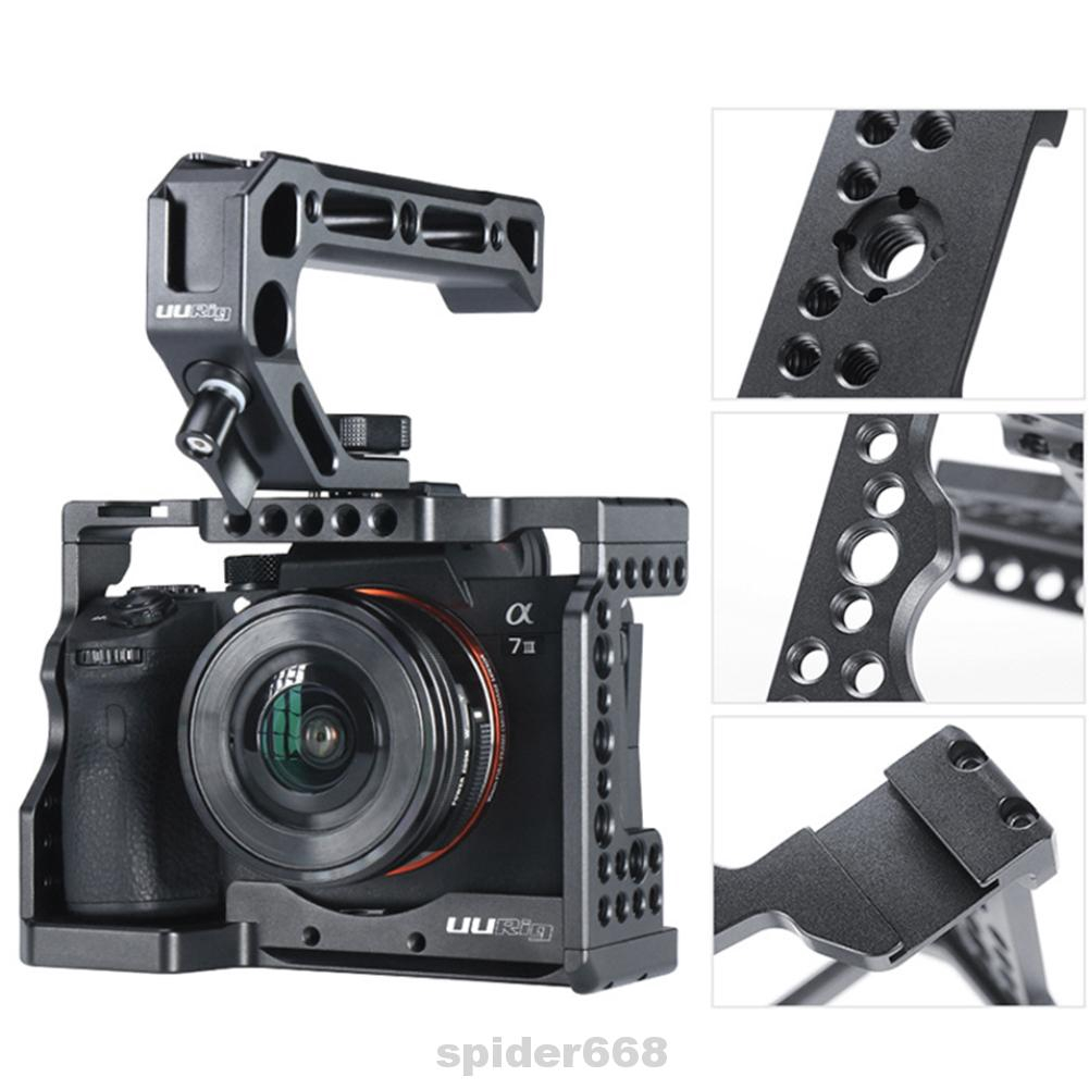 Camera Cage Accessories Anti-skid Durable Electronics Metal Protective Fitted Square For Sony A7III
