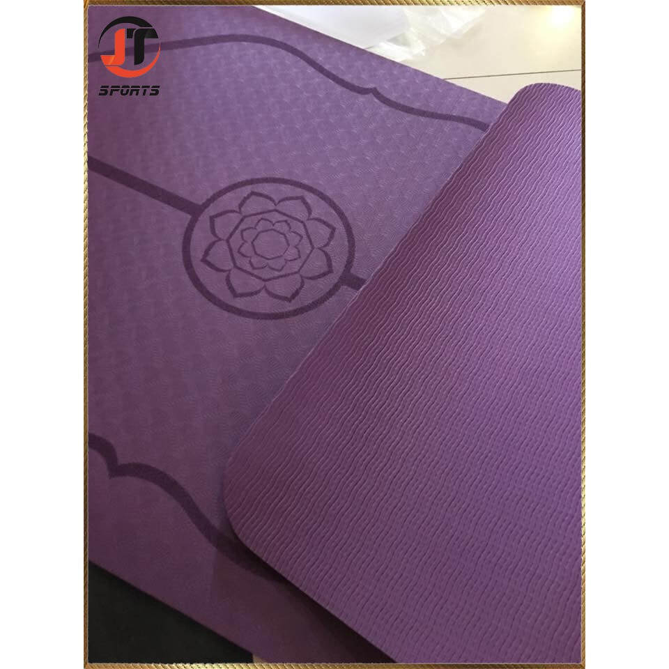Thảm Tập Yoga Định Tuyến TPE dầy 8mm 1 lớp Cao Cấp Loại 1( kèm túi xịn 100k + dây buộc) Túi chống nước.