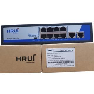 Switch Chia Mạng Poe HRUI 8 Cổng HR900-AF-82N, 2 Cổng Uplink Kêt Nối Camera Internet Máy Tinh- Hàng Chính Hãng thumbnail