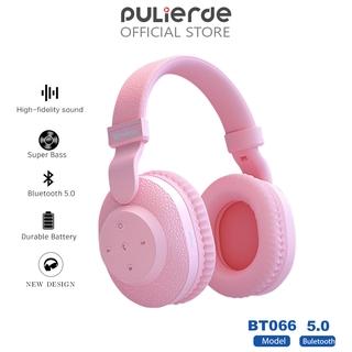 Tai Nghe Chụp Tai Pulierde Bluetooth Có Đèn /Điều Chỉnh Âm Lượng /Có Khe Cắm Thẻ Nhớ
