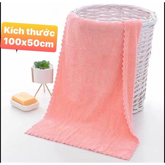 (Sĩ 30k) Khăn tắm Lông cừu hàn quốc kT 100x50