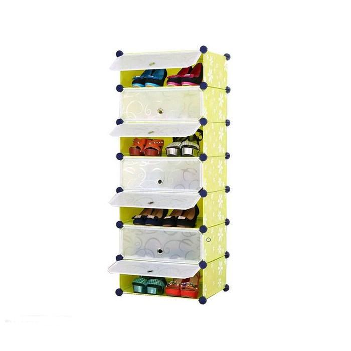 Tủ giày nhựa lắp ghép 7 ngăn