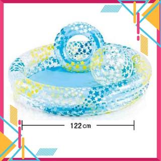 [Xả Kho] Bể bơi ngôi sao có bóng và vòng bơi–Đồ Chơi Nhà Tắm Cho Bé 5497 [Loại Tốt]