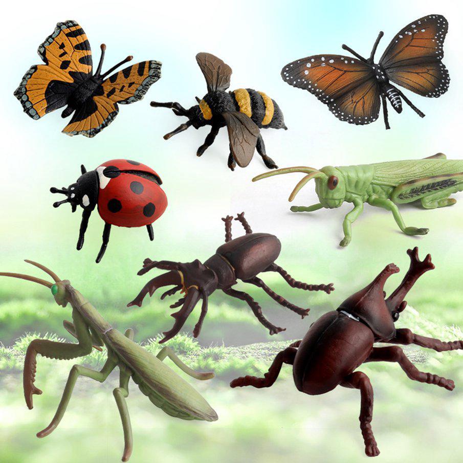 8pcs Simulation Insect Model Animal Figure Decoration Figurine Children Toys