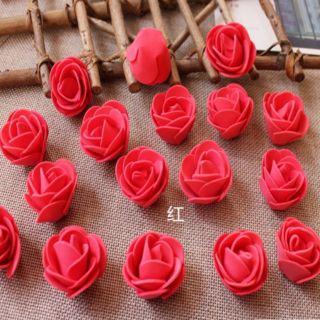 50 bông hoa hồng 3.5cm- hoa xốp bitis- đồ dùng mầm non