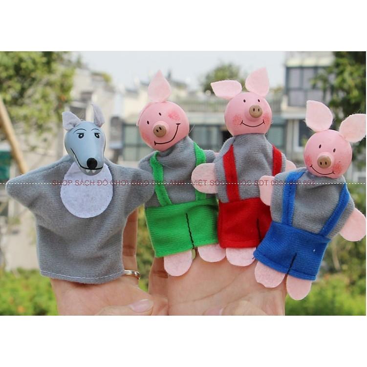 Rối ngón tay kể chuyện 3 chú lợn con