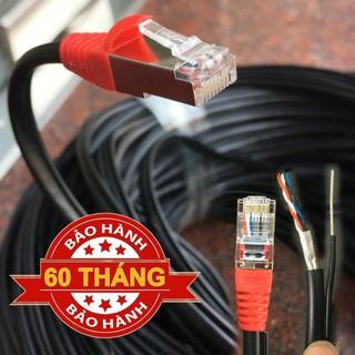 Cáp mạng ngoài trời bấm sẵn 2 đầu 120m 110m 100m 90m 80m có dây chịu lực bằng thép chống đứt thumbnail