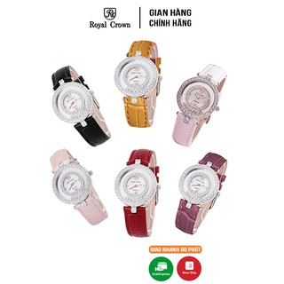Đồng hồ nữ chính hãng Royal Crown 3628ST Dây da các màu thumbnail