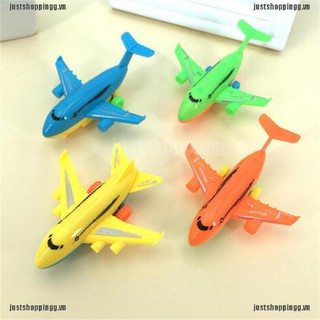 WY 2Pcs Durable Air Bus Airplane Model Toy Pull Back Planes Kids Vehicles Gift NN