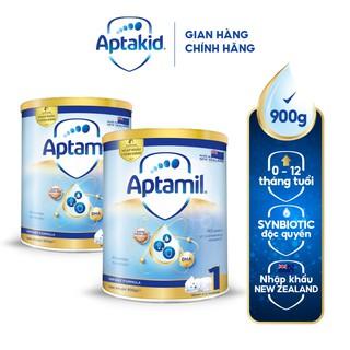 Combo 2 hộp sữa bột Aptamil hộp thiếc số 1 (900g hộp)