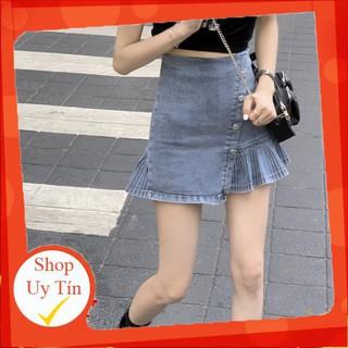 chân váy jean Lưng Cao Phong Cách Hàn Quốc Cho Nữ