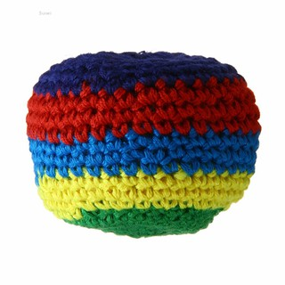 💗Sunei💗1Pc Handmade Spiral Hacky Sacks Footbag Magic Juggling Ball Random Color