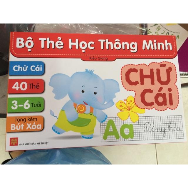 Flash card Bộ thẻ học thông minh - Thẻ Chữ cái Tiếng Việt (Tặng kèm Bút Xóa)