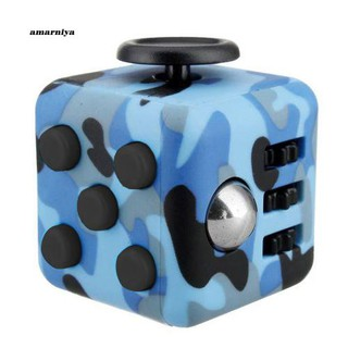 AMA♥Camouflage ABS Cube Anxiety Relief Focus Adult Kids Attention Therapy Dice
