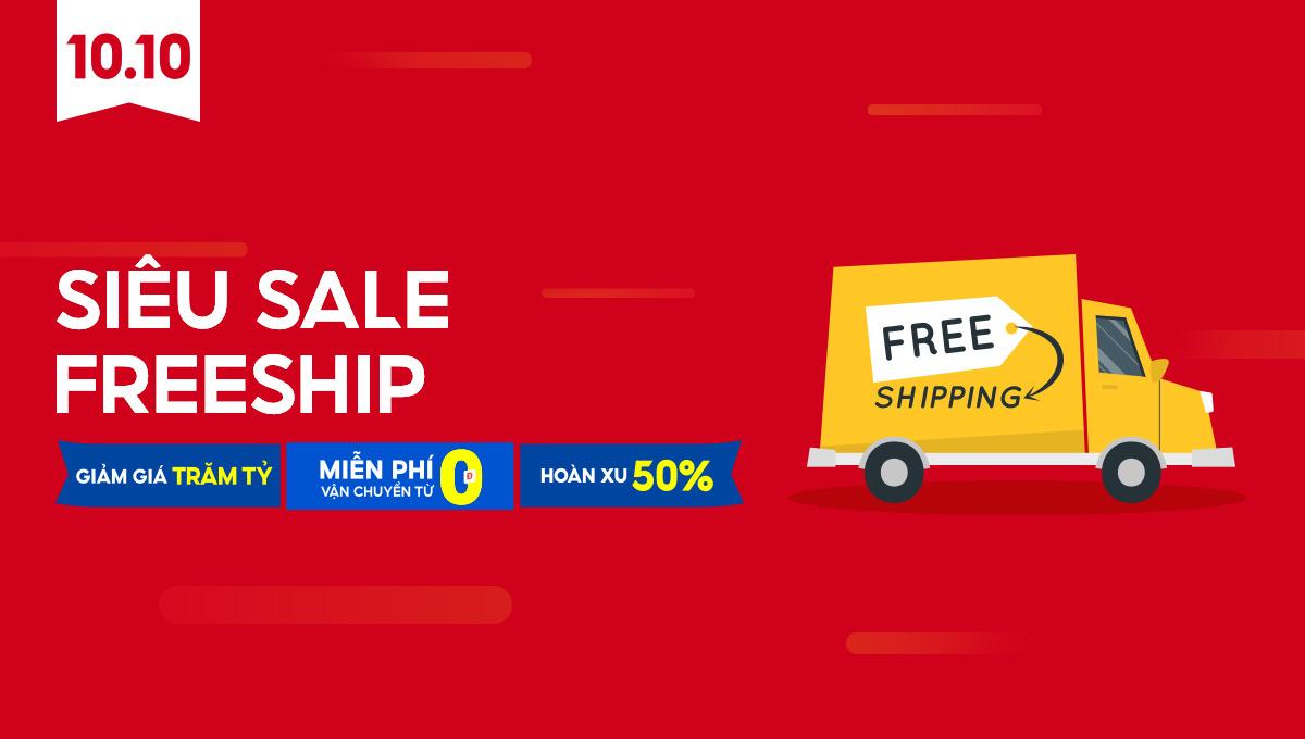 Siêu sale freeship - Shopee