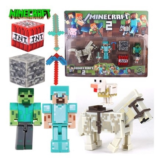 Real Classic Anima Game Minecrafted Series Model Toys Steve Enderman Peripheral Hand-made Toys Children Christmas New Year Gift