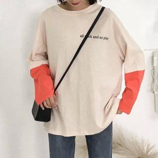 Áo phông tay phối thời trang, áo nữ, áo hot, áo ulzang
