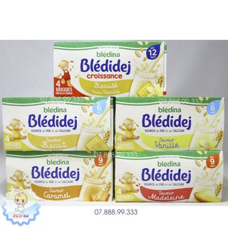 (1 hộp) Sữa nước Bledina Pháp 6th+ (vani/bíchqui/caramel/made/vani bích qui) date 2021