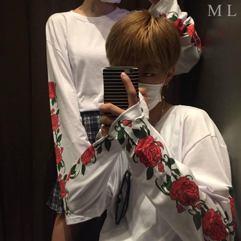 Áo thun tay dài in hình hoa hồng - 3324869 , 523997526 , 322_523997526 , 95000 , Ao-thun-tay-dai-in-hinh-hoa-hong-322_523997526 , shopee.vn , Áo thun tay dài in hình hoa hồng