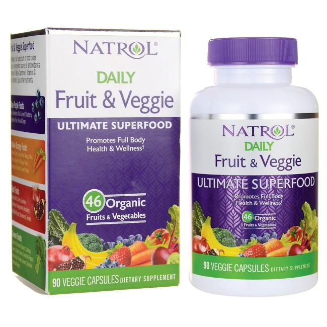 VIÊN TỔNG HỢP 46 LOẠI RAU CỦ, TRÁI CÂY ORGANIC NATROL DAILY FRUIT & VEGGIE