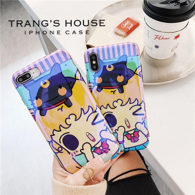 Ốp Lưng Iphone Silicon Dẻo Sailor Moon
