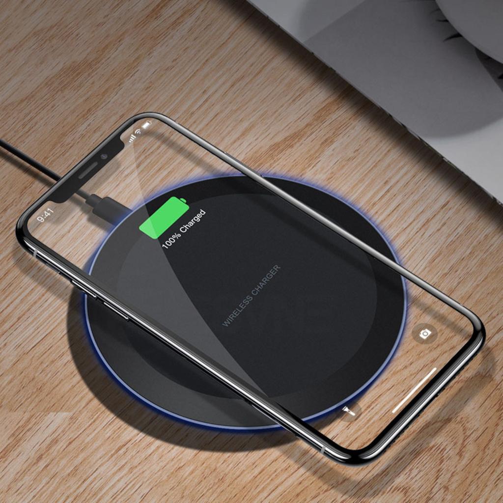 Đế Sạc Nhanh Không Dây Qi 5 / 10w Cho Iphone Xr Huawei P30Pro