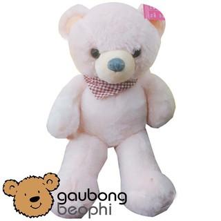 Gấu bông teddy choàng khăn caro hàng nhập cao cấp size 60cm [giao màu ngẫu nhiên]