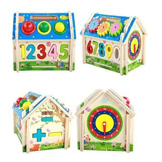Đồ chơi gỗ ngôi nhà thả hình đa năng