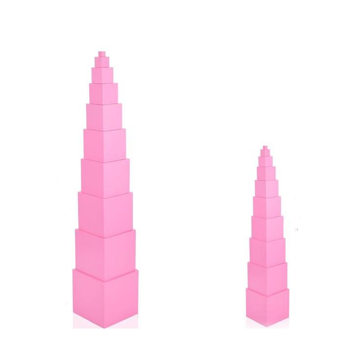 Bộ tháp Hồng - giáo cụ montressori kích thước lớn 1-10cm