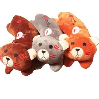 Gấu bông gối ôm I love Cony 50cm ( 3 màu 2 size) vải nhung mịn