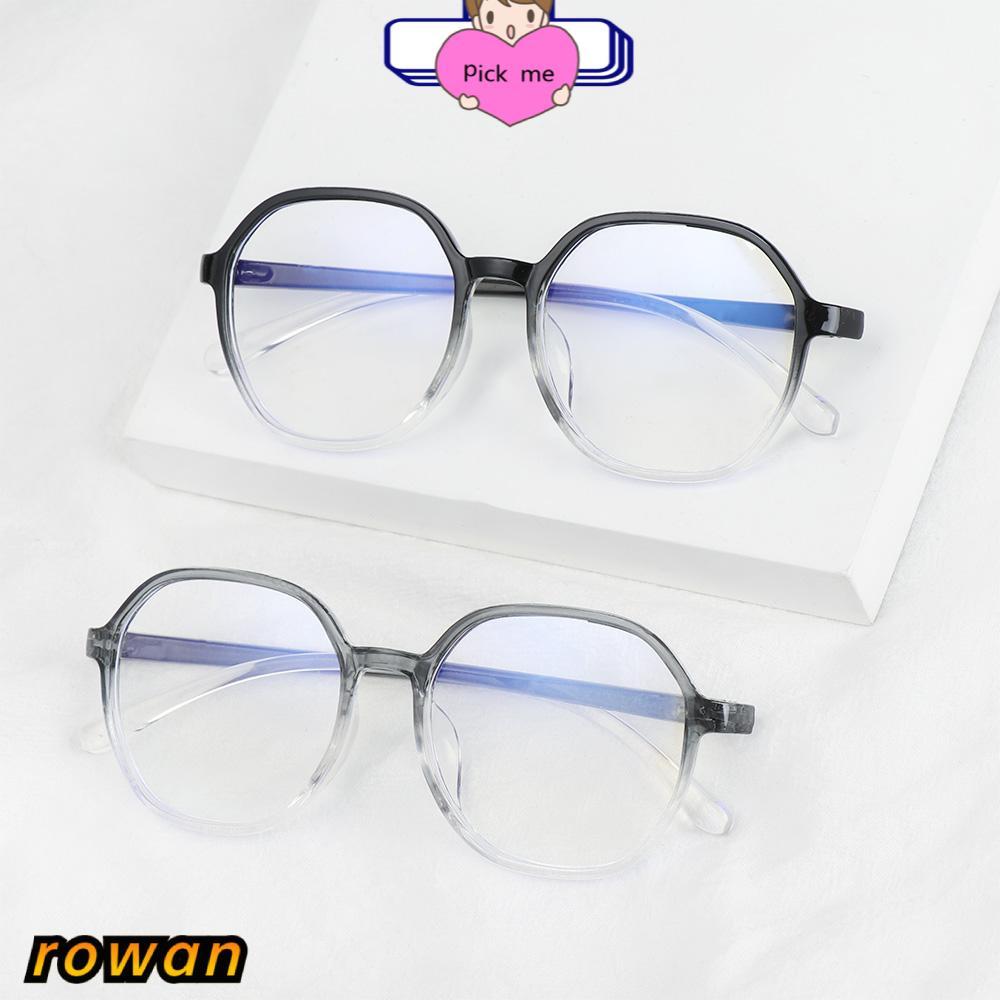 ROW Unisex Myopia Glasses Vision Care Eyeglasses Computer Goggles Ultralight Anti-UV Blue Rays Fashion Radiation Protection Flat Mirror Eyewear