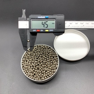 Hộp 1.500 viên Bi sắt 4.5MM mạ Crom ( BB 4.5MM ) hàng chuẩn kích thước.