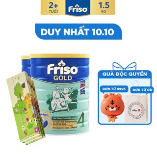 """[Độc Quyền Shopee - Tặng Thảm Chơi Size Đại Cho Bé] Combo 2 Lon Sữa Bột Friso Gold 4 (1.5kg/Lon) giá chỉ còn <strong class=""""price"""">123.500.000.000đ</strong>"""