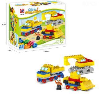 BỘ LEGO LẮP RÁP XE SÁNG TẠO [LOẠI LỚN][90 CHI TIẾT].