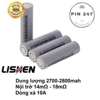 Cell pin 18650 lishen xám 2700, 2800 mah 5c (hàng mới , chính hãng)