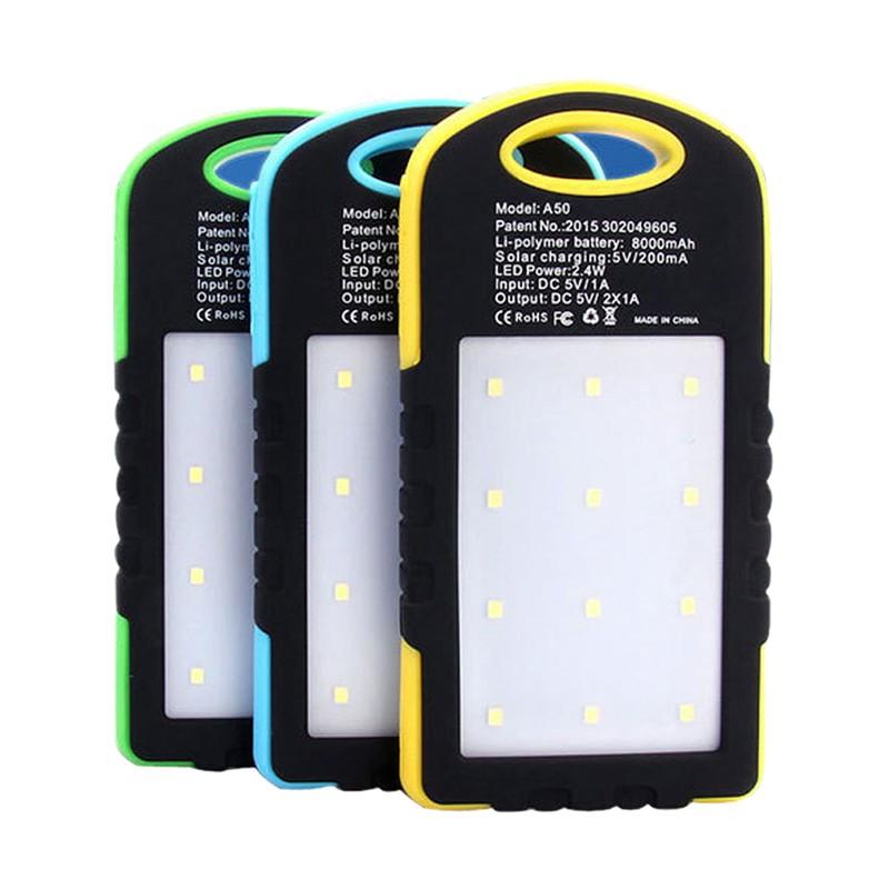 ❤DIY Waterproof 5000Mah Solar LED Empty Box Case For Power Bank No Battery