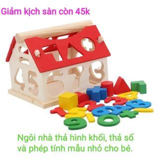 Nhà thả hình, Thả số và Phép tính gỗ ( loại nhỏ) cho bé