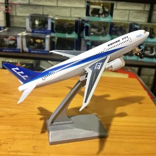 Máy bay hợp kim – Mô hình máy bay Boing 777 tỉ lệ ~1/300 màu trắng