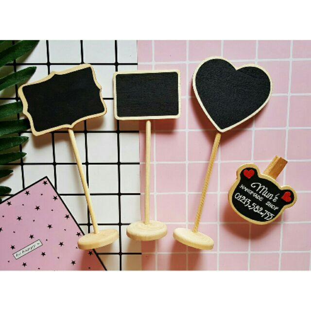 Tag bảng đen ghi tên shop dạng kẹp gỗ/đế đứng 6 MẪU - Phụ kiện chụp ảnh, trang trí