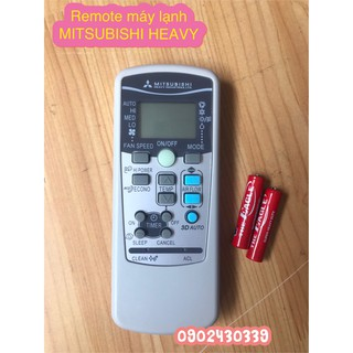 Remote máy lạnh MITSUBISHI HEAVY