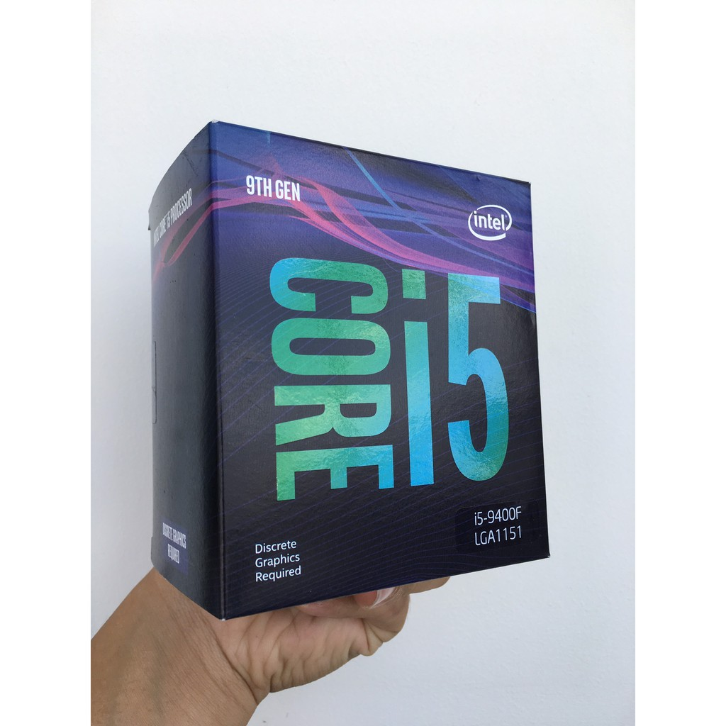 CPU Intel Core i5 9400F 2.90Ghz up to 4.10GHz-9MB-6 Cores, 6 Threads-Socket 1151-v2 Box
