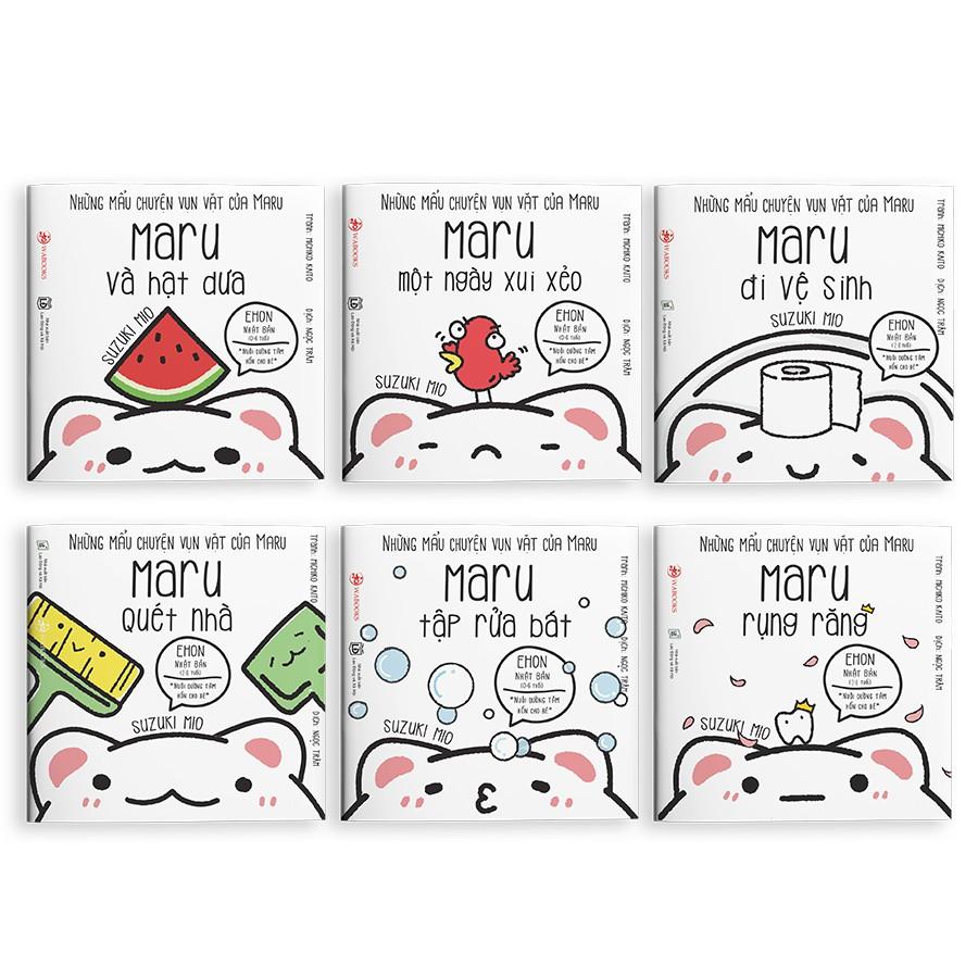 [Mã LT50 giảm 50k đơn 250k] Sách Ehon - Combo 6 cuốn Maru - Ehon Nhật Bản dành cho bé từ 2 - 8 tuổi