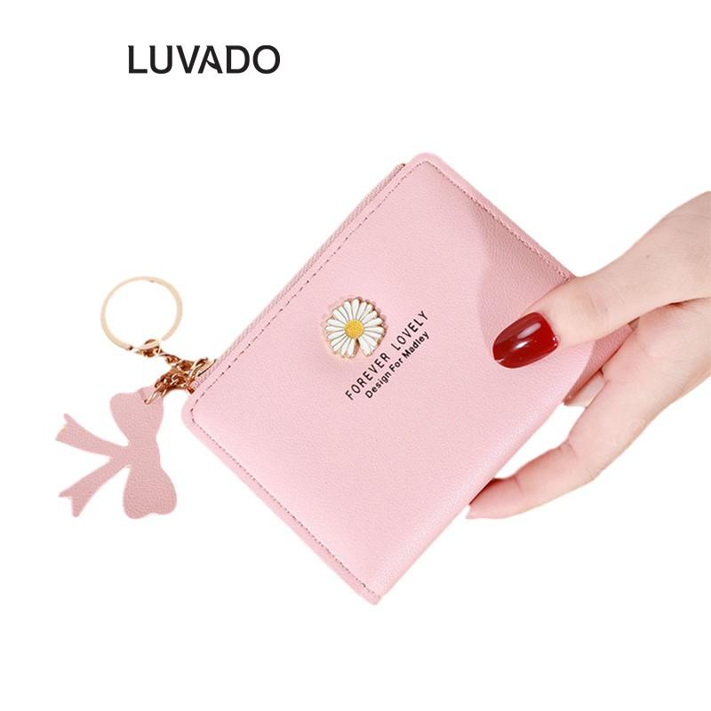 Ví nữ nhiều ngăn mini cầm tay MADLEY đựng tiền nhỏ gọn bỏ túi LUVADO VD421