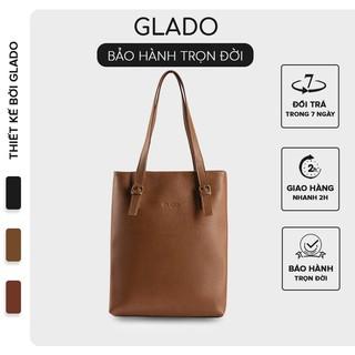 [Mã INCU50 giảm 50k đơn 250k] Túi xách nữ phong cách Hàn Quốc thời trang Glado màu bò nhạt - TG004 thumbnail