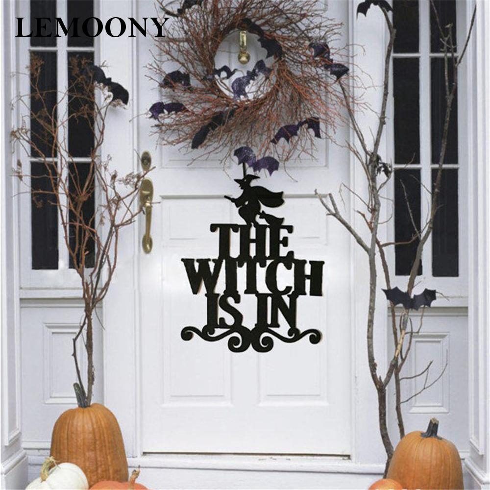 Witch Broom Non-woven Door Hanging Party Decoration Halloween High Quality