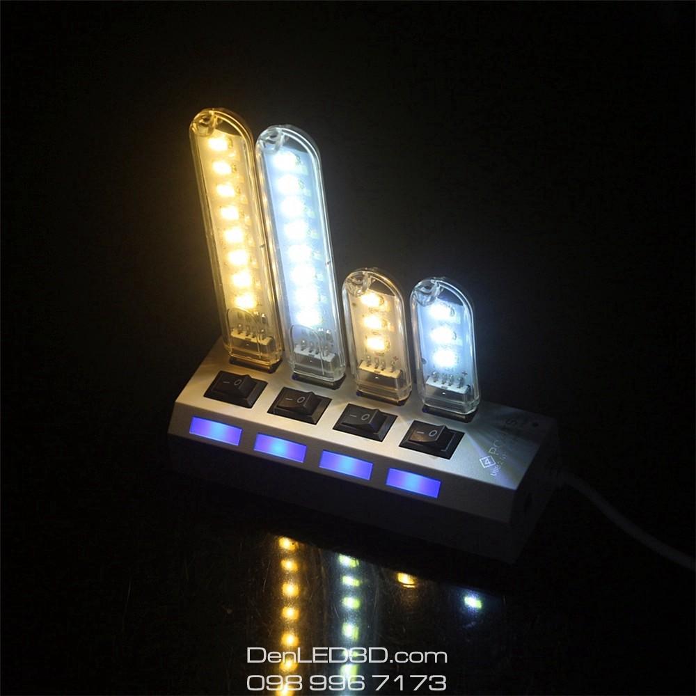 Thanh Đèn LED Mini Cắm Cổng USB 3/8/24 Bóng