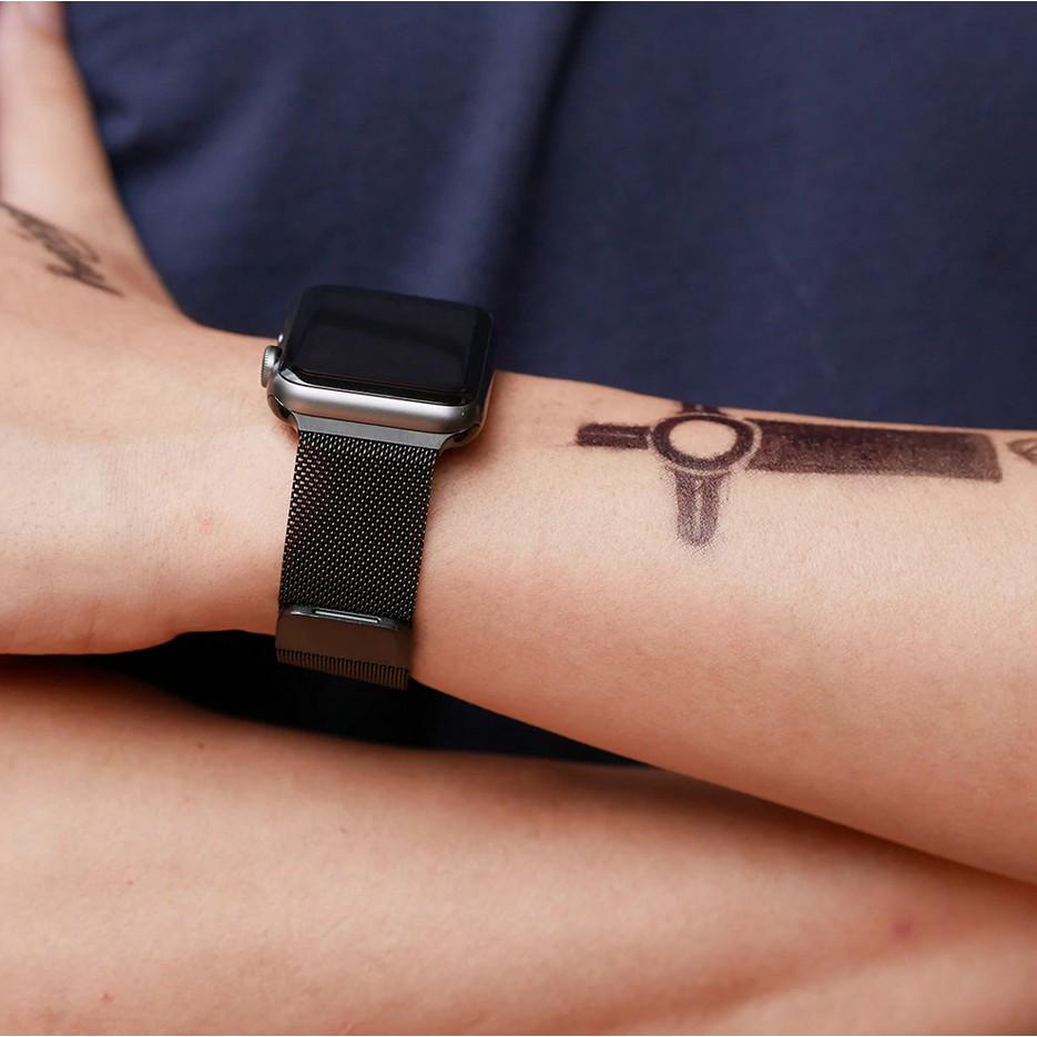 Dây Đeo Apple Watch Thép Không Gỉ - Khóa Nam Châm dành cho Apple Watch Series 5/4/3/2/1 - hàng phụ kiện